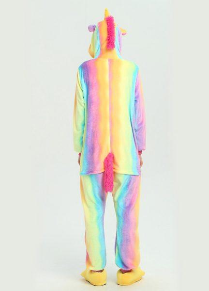 Pyjama Combinaison Licorne Arc En Ciel 2 - Vue de Dos