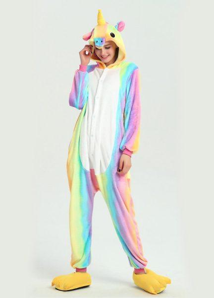 Pyjama Combinaison Licorne Arc En Ciel 2 - Vue de Face 2