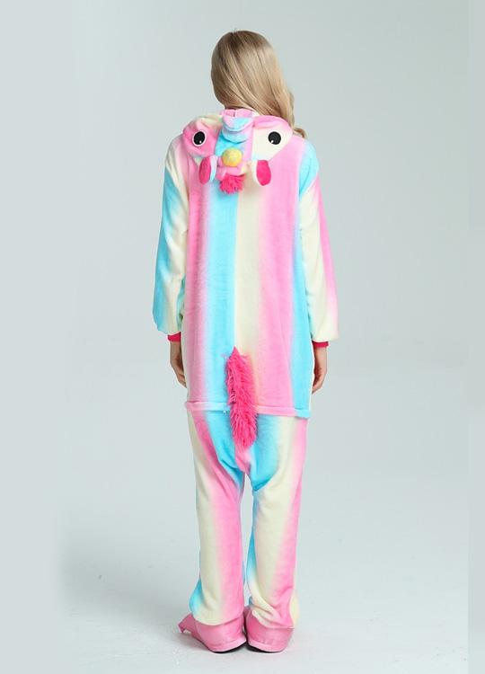 Pyjama Combinaison Licorne Arc En Ciel - Vue de Dos