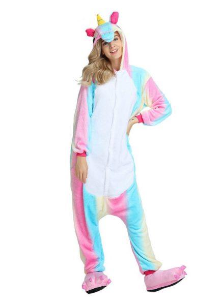 Pyjama Combinaison Licorne Arc En Ciel - Vue de Face 2