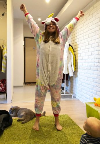 Combinaison Kigurumi Licorne Arc en Ciel photo review