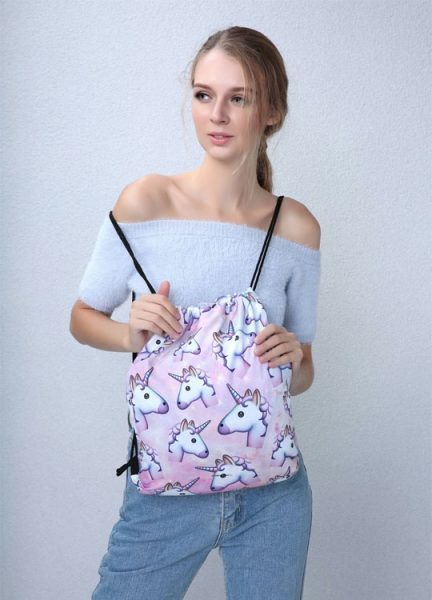 Besace Licorne Patchwork - En Situation