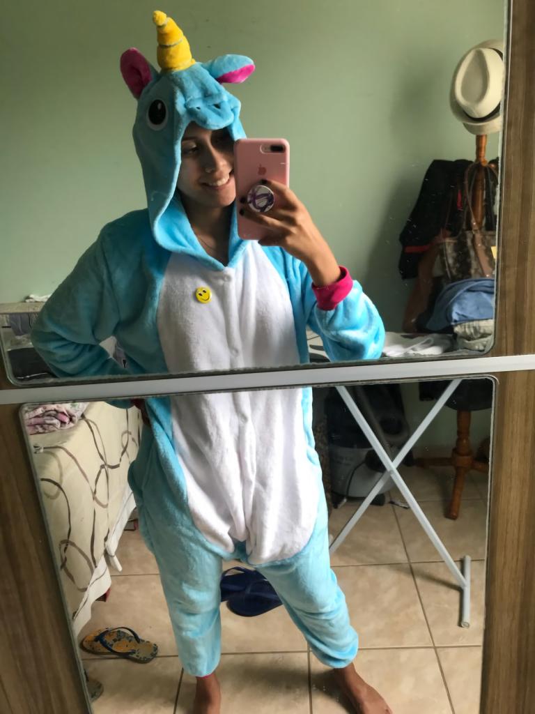 Combinaison licorne bleu femme