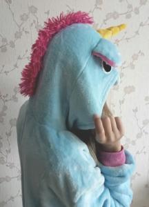 kigurumi licorne bleu femme